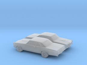 1/200 2X 1965 Pontiac GTO in Smooth Fine Detail Plastic