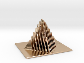 Miniature Pyramid Sculpture in 14k Rose Gold Plated Brass