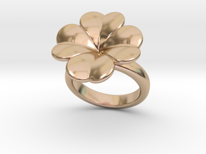 Lucky Ring 19 - Italian Size 19 in 14k Rose Gold Plated Brass