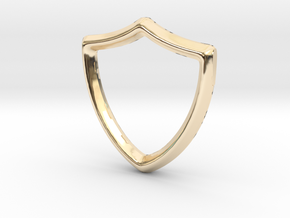 Shield Charm - 11mm in 14K Yellow Gold