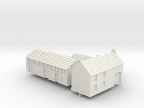 1:285 Two farm houses. in White Strong & Flexible