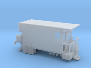 MOW Rail Detection Truck With Details 1-87 HO Scal in Smooth Fine Detail Plastic