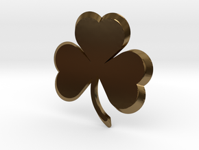 Customizable Shamrock Pendant in Polished Bronze