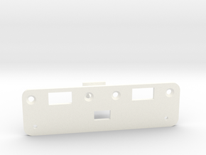 Rollers to Switch Conversion Bracket - Jazzmaster in White Strong & Flexible Polished