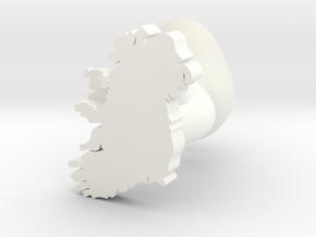 Mayo Cufflink in White Processed Versatile Plastic