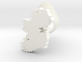 Meath Cufflink in White Processed Versatile Plastic