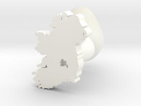 Laois Cufflink in White Processed Versatile Plastic