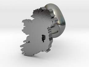 Kildare Cufflink in Polished Silver