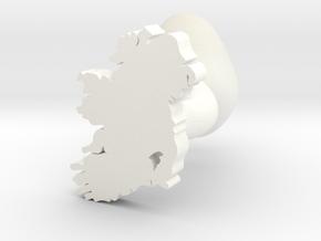 Carlow Cufflink in White Processed Versatile Plastic