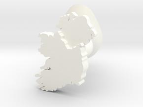 Ulster Cufflink in White Processed Versatile Plastic