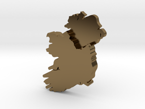 Ulster Earring in Polished Bronze
