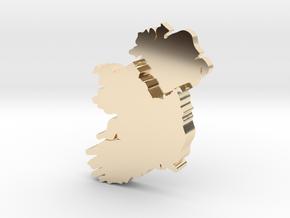 Ulster Earring in 14k Gold Plated Brass