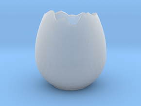 EggShell1 in Smooth Fine Detail Plastic