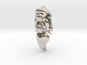 BooGhast the Little Ghost Girl Charm in Rhodium Plated Brass