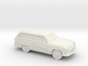 1/87 1950 Ford Fordor Station Wagon in White Natural Versatile Plastic