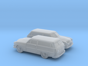 1/160 2X  1950 Ford Fordor Station Wagon in Smooth Fine Detail Plastic