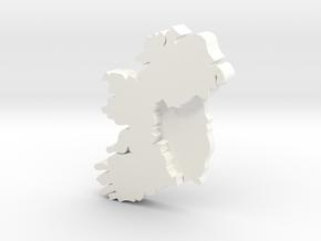 Munster Earring in White Processed Versatile Plastic