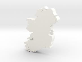 Dublin Earring in White Processed Versatile Plastic