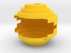 PendantHungryYellow in Yellow Processed Versatile Plastic