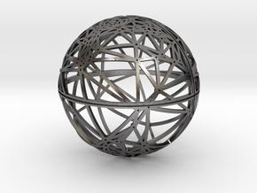 Craters of Callisto Desk Sculpture in Polished Nickel Steel