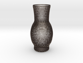 luxurious vessel patterns carved Islamic Arab  in Polished Bronzed Silver Steel