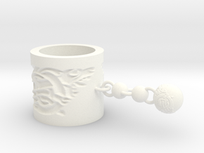Norse Scarf Ring (short) in White Processed Versatile Plastic