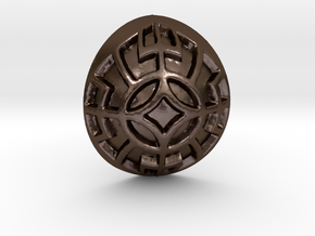 Norse Motif Pendant in Polished Bronze Steel