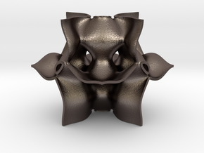 Parametric Mathematical Geometry in Polished Bronzed Silver Steel