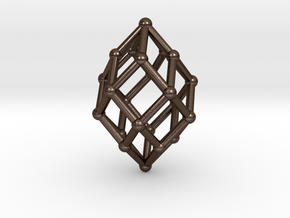 0517 Polar Zonohedron V&E [5] #002 in Polished Bronze Steel