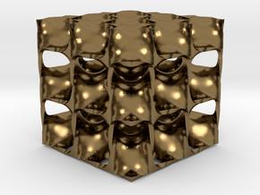 Diamond Math Geometry in Polished Bronze