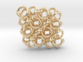 Spherical Cuboid Pattern Design in 14k Gold Plated Brass