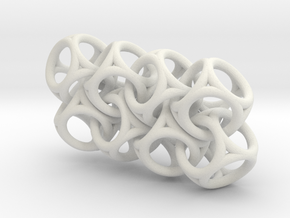 Spherical Cuboid Chain in White Natural Versatile Plastic