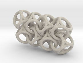 Spherical Cuboid Chain in Natural Sandstone