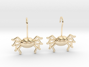 Cute Spider Earrings in 14k Gold Plated Brass