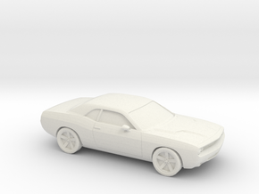1/87 2009 Dodge Challenger in White Natural Versatile Plastic