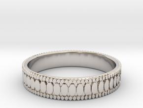 Ø0.687 inch/Ø17.45 mm Ring in Rhodium Plated Brass
