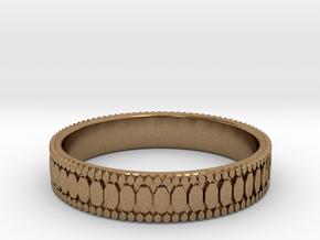 Ø0.687 inch/Ø17.45 mm Ring in Natural Brass