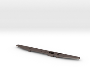 Defender Rear Bumper - Simple in Polished Bronzed Silver Steel