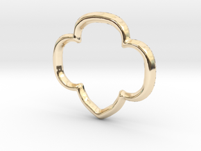 Trefoil Pendant/Charm - 16mm in 14K Yellow Gold