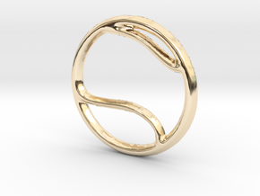 Tennis Pendant/Charm - 16mm in 14K Yellow Gold