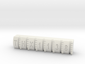 Hengstler Counter 7 Number Roller THX1138 in White Natural Versatile Plastic