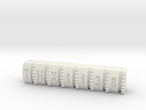 Hengstler Counter 7 Number Roller THX1138 in White Natural Versatile Plastic