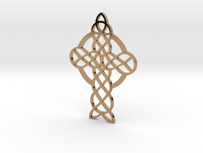 Knot Cross in Polished Brass