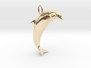 Dolphin Pendant in 14K Yellow Gold