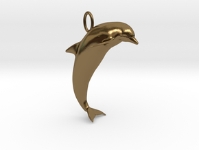 Dolphin Pendant in Polished Bronze