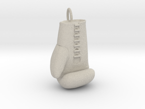 Boxing glove pendant in Natural Sandstone
