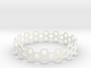 BeeHive Bracelet in White Processed Versatile Plastic