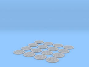 Manhole cover 01. HO Scale (1:87) in Frosted Ultra Detail