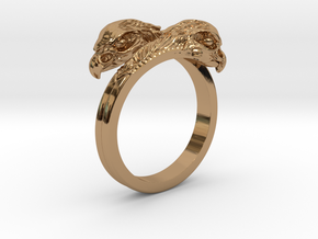 Ring double Eagles // Size US 10 3/4 in Polished Brass