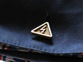 Electricity Cufflinks in Polished Bronzed Silver Steel
